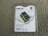 Pny 2gb Kit (2x1gb) Pc2-5300 667mhz Ddr2 Notebook Sodimms Memory Mn2048kd2-667