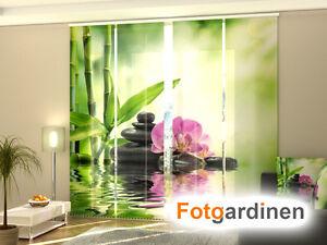 Fotogardine Orchidee bedruckt mit Motiv Flächenvorhang Schiebegardine auf Maß