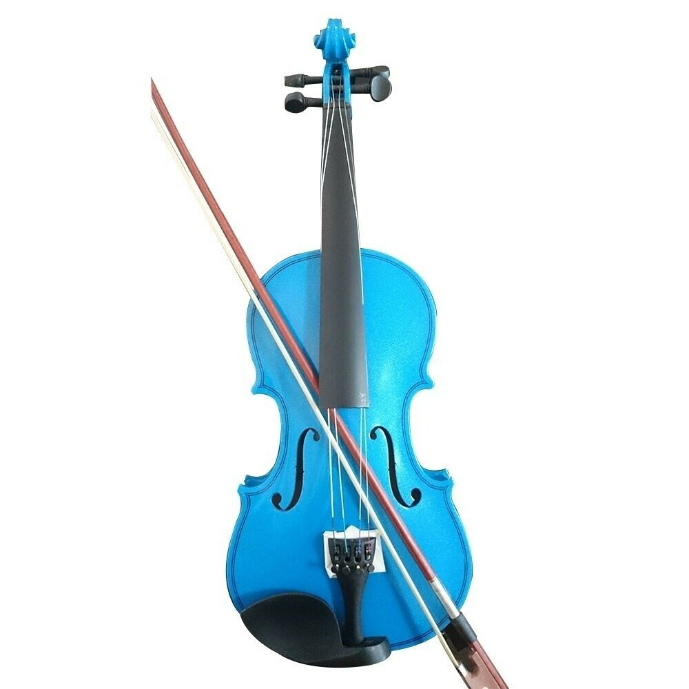 Student Acoustic Violin Full 3 4 Maple Spruce with Case Bow Rosin Farbe Blau