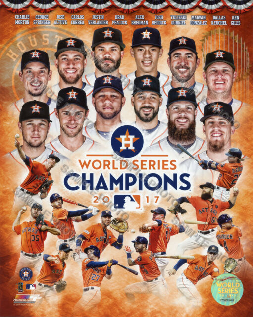 Astros World Series >> Houston Astros World Series Champions Licensed Official 8x10 Composite Photo