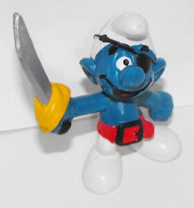 20104-Pirate-2-inch-Plastic-Figurine-Vintage-Figure-Smurf-1978-Peyo
