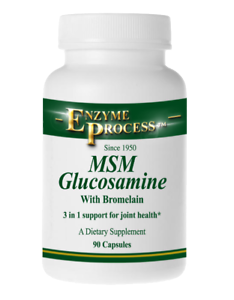 MSM-GLUCOSAMINE-WITH-BROMELAIN-90-Dietary-Supplements-Enzyme-Process