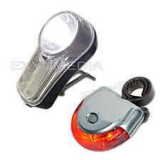 StVZO - LED Set Fahrradlicht 15 Lux + 5 LED Rücklicht Fahrradbeleuchtung Silber