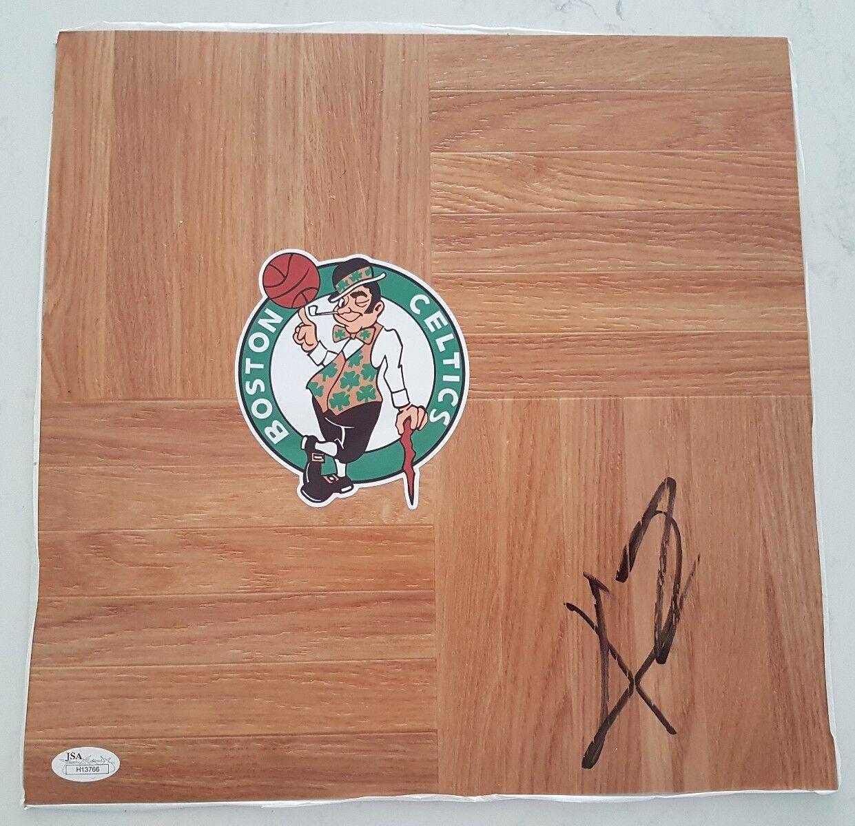 KYRIE IRVING SIGNED 12 x12  FLOORBOARD NBA BOSTON CELTICS CAVS JSA COA H13766