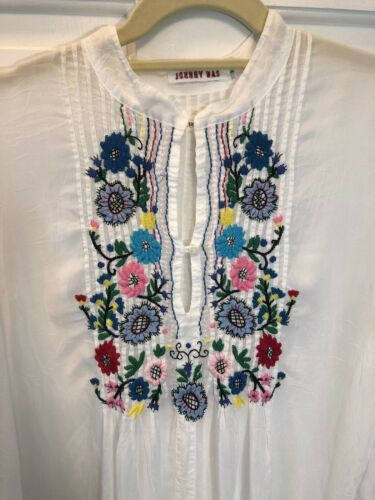 45. Euc Johnny Was Biya Embroidered Floral Tunic S