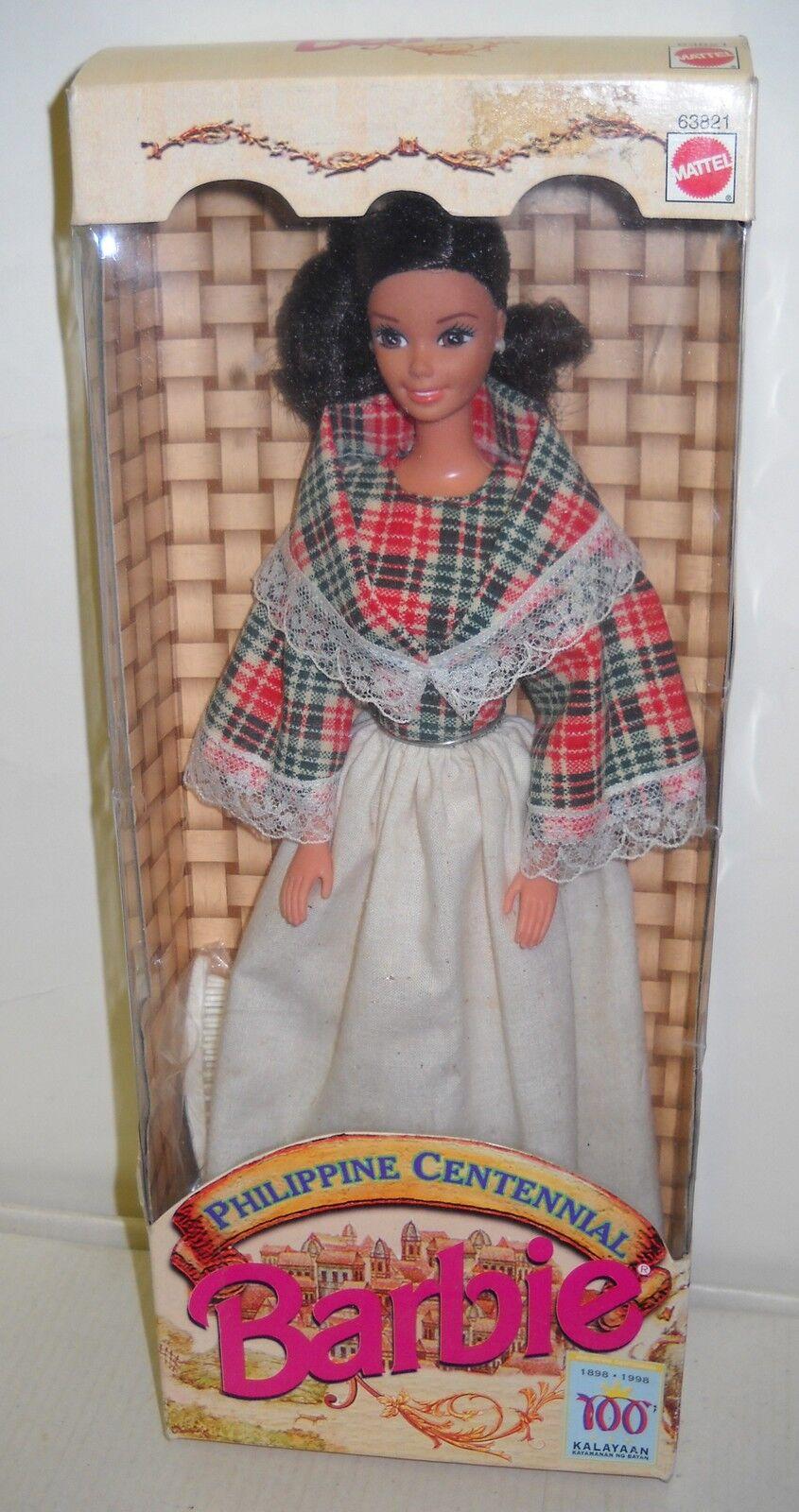 Nunca quitado de la Caja Mattel Muñeca Barbie Moda filipina Centenario