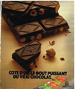 Collectibles Publicité Advertising 1978 Le Chocolat Cote D'or Excellent In Cushion Effect Breweriana, Beer