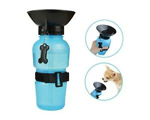 Dog-Pet-Travel-Water-Bottle-Bowl-Portable-Cup-Dispenser-Outdoor-Drink-Clip-Blue