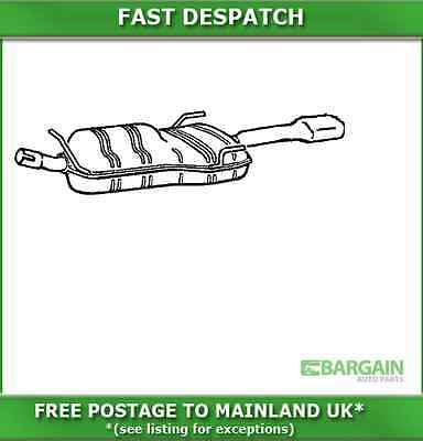 GM108T 5757 KLARIUS END SILENCER FOR VAUXHALL CAVALIER 2.5 1988-1994