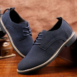 Men Casual Suede Leather Oxford Shoes