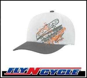 New-Alpinestars-Freedom-Hat-Gray-S-M-Flexfit-Cap-Baseball-Casual-Hats