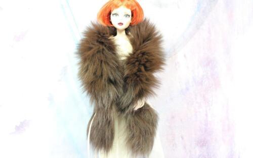 """~22"""" Chocolate Brown Fox Fur Boa for Evangeline Ghastly Sydney dolls~by dimitha~"""