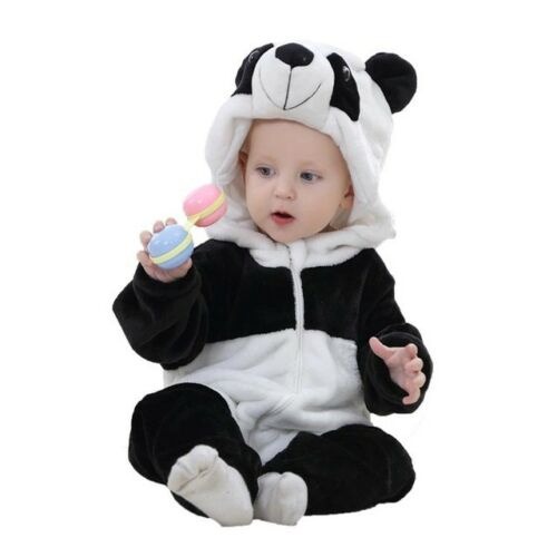 Baby Flannel Clothes Spring Autumn Cute Cartoon Pajamas Animal Toddler Jumpsuits
