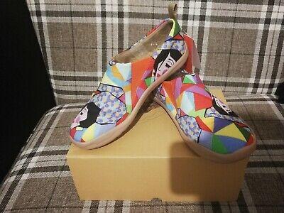 Aufrichtig 112.damen Schuhe 37 Neu Mit Karton. Bunt Malerei Und Bequem Preisnachlass