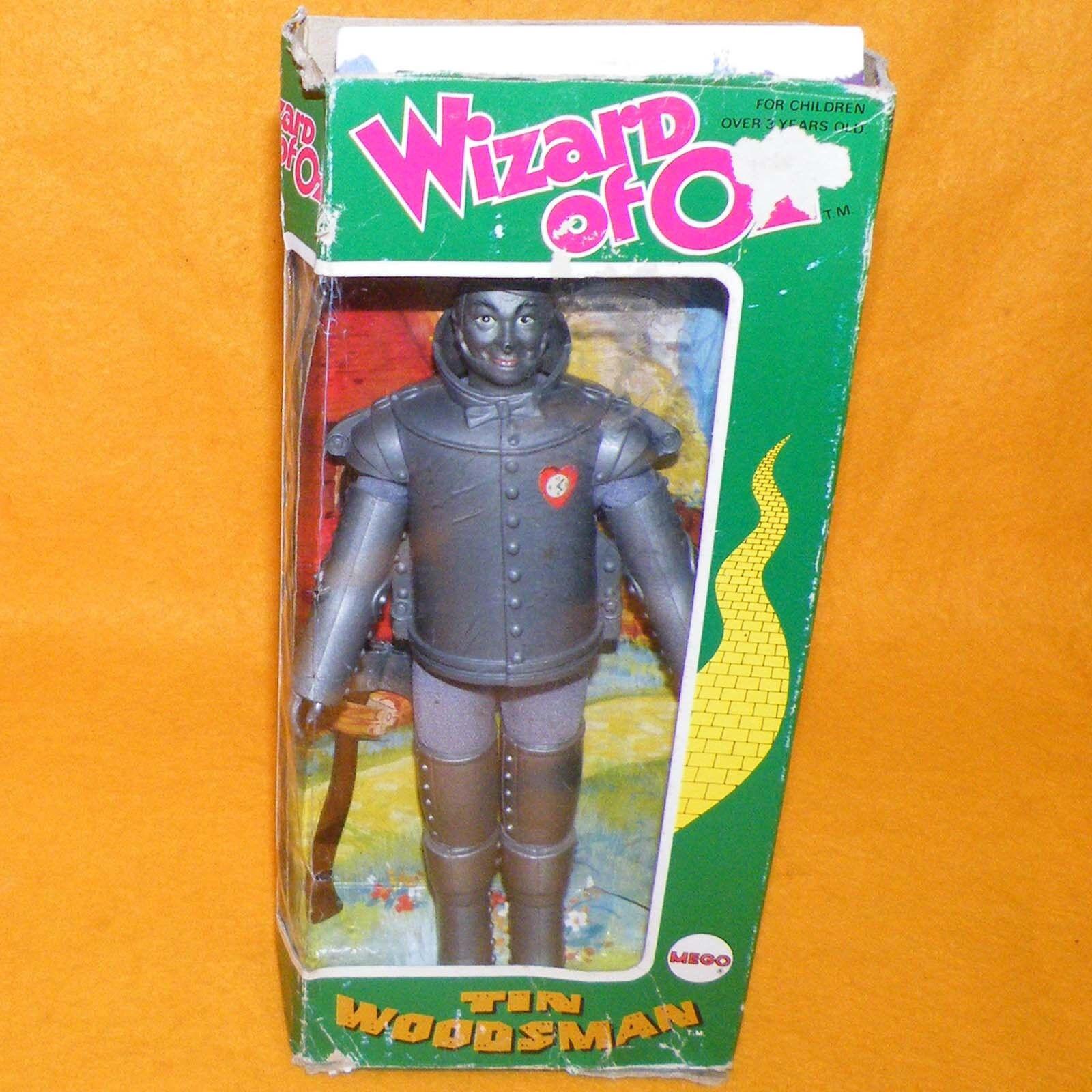 VINTAGE 1974 70s MEGO WIZARD OF OZ TIN WOODSMAN MAN 8  DOLL FIGURE BOXED RARE