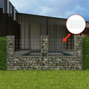 Détails sur vidaXL Panier de Gabion en U Acier 240x20x100 cm Clôture de  Jardin Décoration