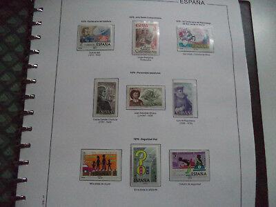 COLECCIÓN DE SELLOS ESPAÑA 1976 TO 1987 MINT ++