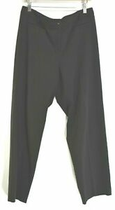 J.Jill Women's Size 10T Career Dress Slack Pants Flare Bottom Trousers Black