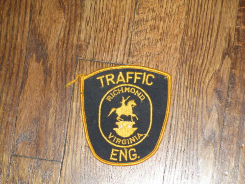 new old stock, 60/'s vintage  patch virginia.traffic engineer richmond
