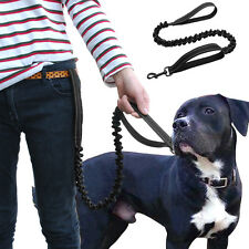 Stretch Elastic Bungee Dog Leash Dog Lead For Police K9 Tactical Training Black