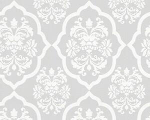 vlies tapete as naf naf 95224 2 grau wei ornamente design. Black Bedroom Furniture Sets. Home Design Ideas