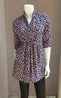 Aqua Woman Long Top Sz 2-4 With Build In Packets Tie On The Back Floral