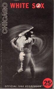 1966-8-16-Baseball-program-Kansas-City-Athletics-Chicago-White-Sox-scored-VG