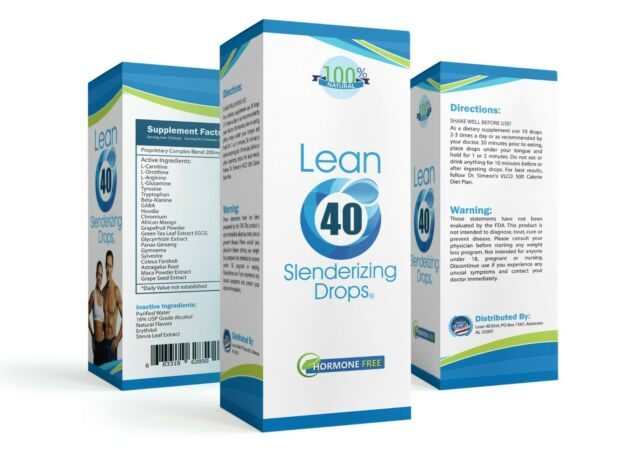 (1) HCG-Free Diet Drops Lose 1-2 Pounds daily VLCD Plan-Lean 40 Hormone Free