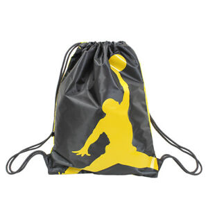 f49a36bacc7879 Nike Air Jordan Jumpman Drawstring Gym Sack Bag Backpack Black ...