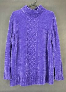 Yarnworks-Women-039-s-Large-Acrylic-Turtleneck-Knitted-Long-Sleeve-Sweater