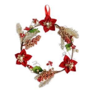 Addobbi Natale.Dietroporta Natalizio Stilizzato Decorazione Natalizia Addobbi Natale 30 Cm Ebay