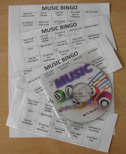"Pub Music Bingo  /""Golden Oldies Vol 2/"" READY TO PLAY 50 Bingo Cards//Music CD//Etc"
