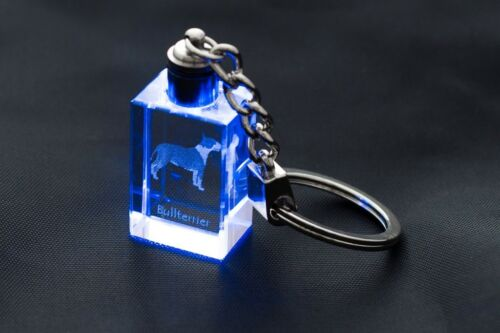 Crystal Animals DE Bullterrier Schlüsselbund Hund Kristall Schlüsselbund