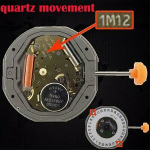 Pour-MIYOTA-1M12-LTD-QUARTZ-Watch-Movement-Part-Date-at-3-6-039-REPLACE-6M12