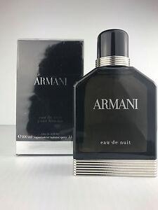 Armani Eau De Nuit By Giorgio Armani Cologne Spray For Men 34 Oz