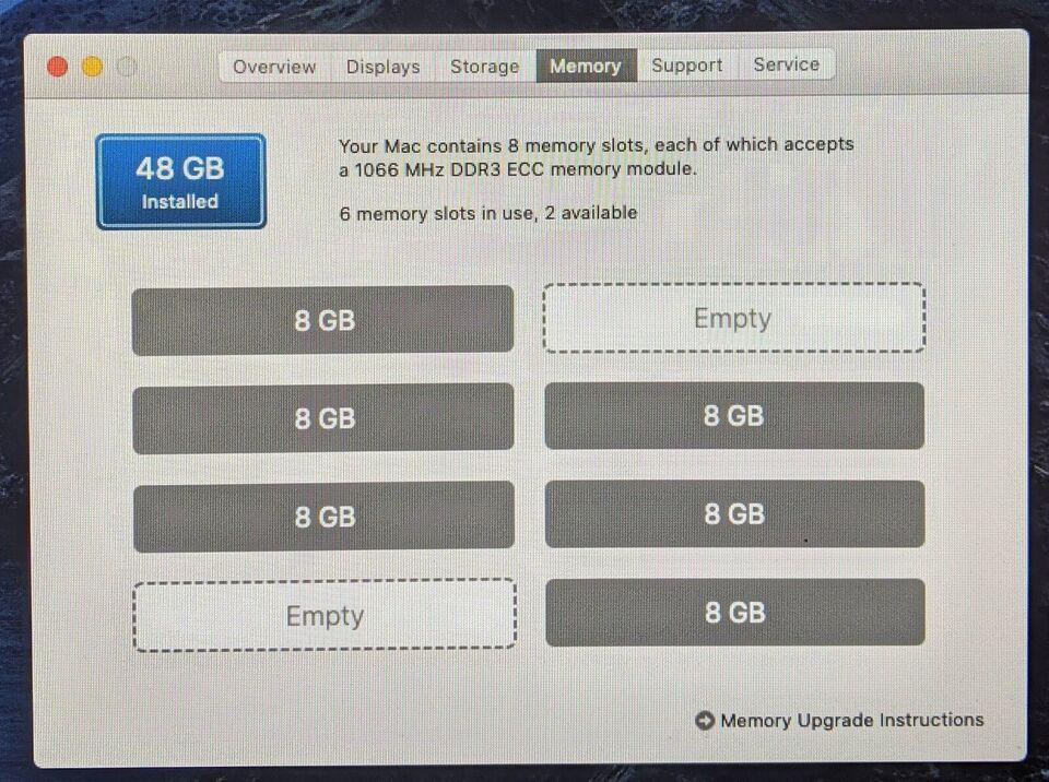 Mac Pro, 5,1, 2x Quad-Core Xeon 2,26 GHz