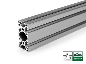 aluprofil 60x30 nut 6 alu aluminiumprofil konstruktion profil item kompatibel ebay. Black Bedroom Furniture Sets. Home Design Ideas