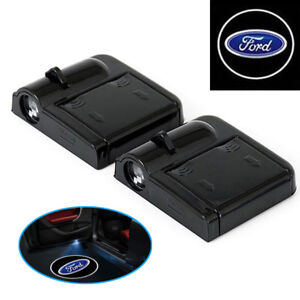 A64-2-Stueck-Wireless-Auto-Tuer-Licht-LED-Car-Willkommen-Projector-Logo-fuer-FORD