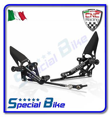 Ducati 1198 / S 2009 > 2011 Pedane Regolabili Cnc Racing Althea Sbk Rear Sets Helder In Kleur