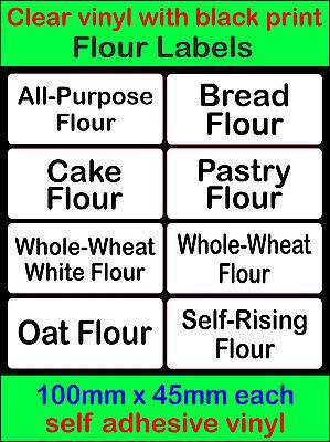 Farine étiquettes autocollante vinyle stockage autocollants pain gâteau pâtisserie farine de blé