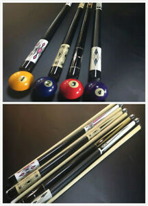 58-034-4-3-2-1-Piece-Hardwood-Maple-Sneaky-Pete-Pool-Cue-Billiard-Stick-Choose-19OZ