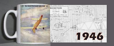 Aeromodeller Vintage Mug 1946 Design-mostra Il Titolo Originale