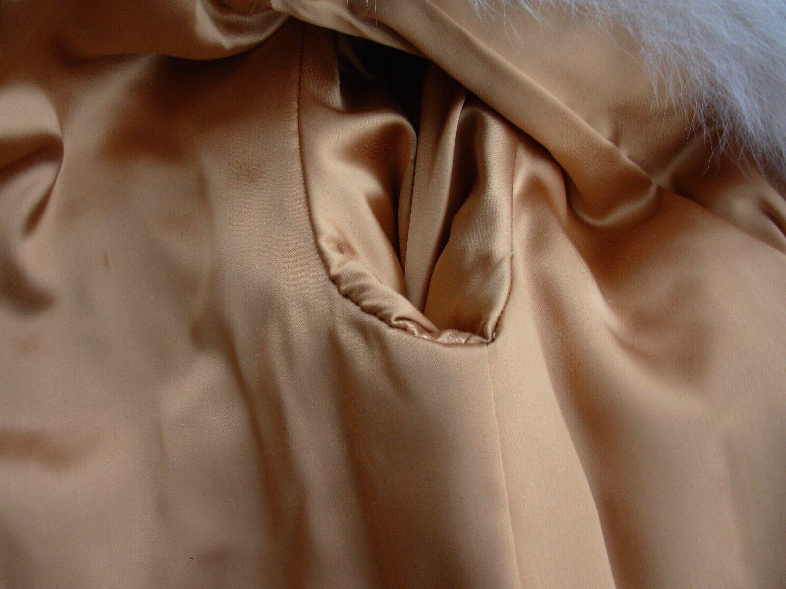 Vintage Dyed bluesh Fox Fur Long Coat women's size    8 6c5e0d