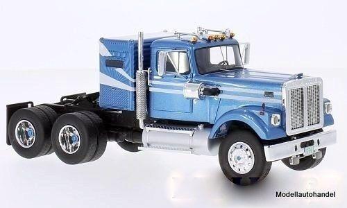 White Road Boss 1977-Metallic Light bluee White 1 43 Neo 45776