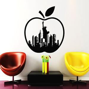 New York Wall Decals Apple Decal City Vinyl Sticker Kitchen Home - Wall decals city
