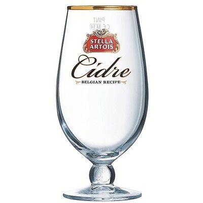 Stella Artois Cidre Chalice Pint Glass 20oz CE - 1 / 2 / 4 Glasses - Brand New