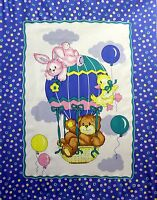 1 balloon Ride 6 Baby Panel Fabric