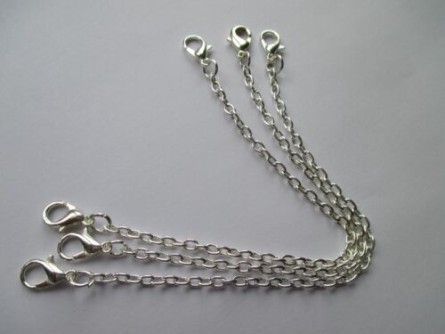UK 3 Pieces 7 inch Silver Extension Necklace Bracelet Jewellery Extender Chain
