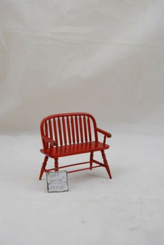 T3845 mahogany finish miniature dollhouse 1//12 scale Colonial Windsor BENCH