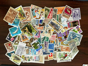 [Lot F] 100 Different Worldwide Large/Commemorative/Pictorial Stamps- NO SMALL!